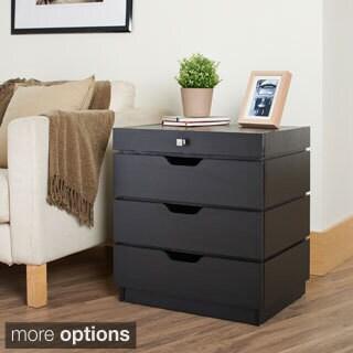 Furniture of America Yatomi Modern 3-Drawer Flip-Top End Table