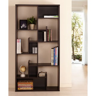 Furniture of America Brigham Geometric Espresso Bookcase