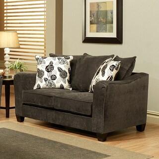 Furniture of America Dorianne Grey Micro-Suede Loveseat