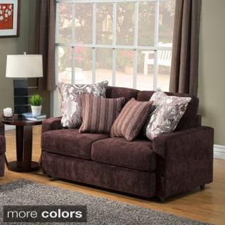 Furniture of America Tarah Transitional Chenille Loveseat