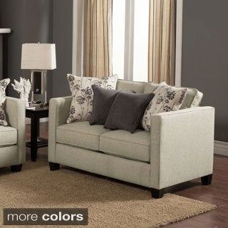 Furniture of America Kalisie Modern Chenille Loveseat