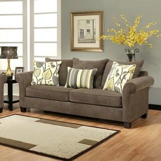 Furniture of America Papina Contemporary Chenille Sofa
