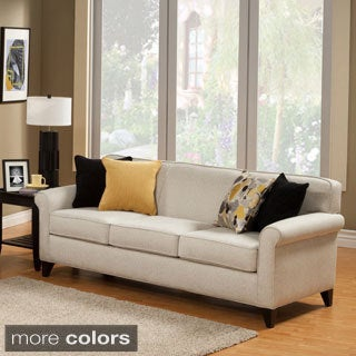 Furniture of America Artistica Sleek Modern Chenille Sofa