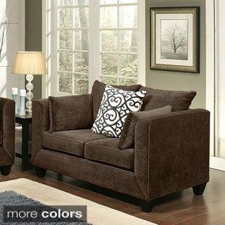 Furniture of America Wallena Modern Chenille Loveseat