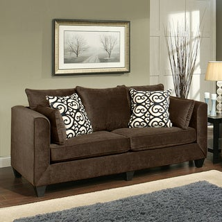 Furniture of America Wallena Modern Chenille Sofa