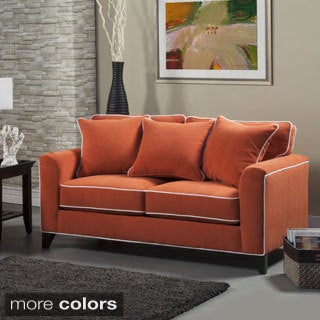 Furniture of America Alton Contemporary Chenille Loveseat