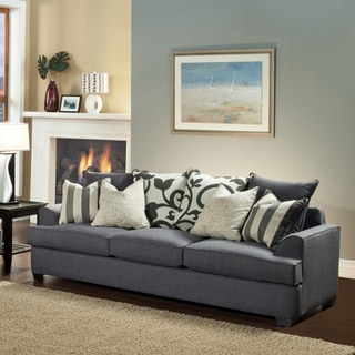 Furniture of America Bryen Skyler Contemporary Chenille Sofa