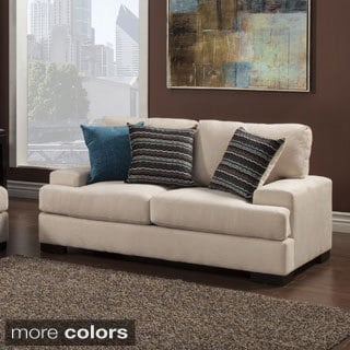Furniture of America Shielliam Contemporary Micro-Denier Loveseast