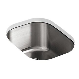 Kohler Undertone Undercounter Stainless Steel 15.5 x 19.625 x 9.5 0-hole Single Bowl Kitchen Sink