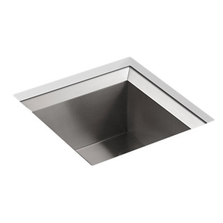 Kohler Poise Undercounter Stainless Steel 18 x 18 x 9.5 0-hole Single Basin Kitchen Sink