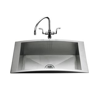 Kohler Swerve Self-Rimming Stainless Steel 33 x 18 x 9 in 0-hole Single Bowl Kitchen Sink