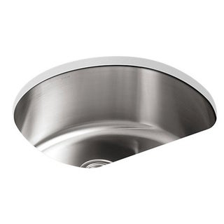 Kohler Undertone Undercounter Stainless Steel 24-1/4 x 21-1/4 x 9.5 0-hole Single Bowl Kitchen Sink