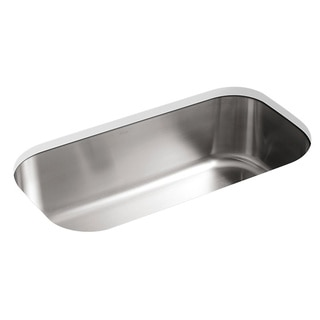 Kohler Undertone Undercounter Stainless Steel 35.5 x 18.5 x 1.25 0-hole Single Bowl Kitchen Sink