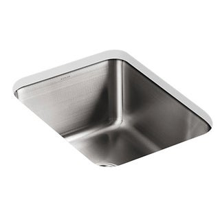Kohler Undertone Undermount Stainless Steel 15.75 x 20.375 x 9.5 0-hole Single Bowl Kitchen Sink