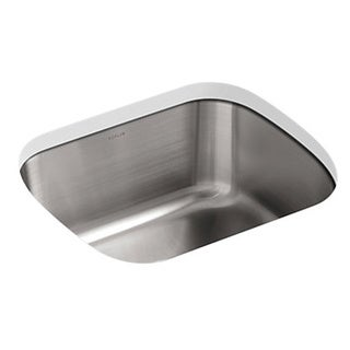 Kohler Undertone Undermount Stainless Steel 18.5 x 15.75 x 8 0-hole Single Bowl Kitchen Sink