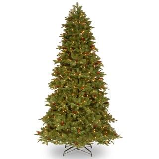 "7.5-foot ""Feel-Real"" Oakridge Medium Hinged Tree with 92 Cones and 650 Clear Lights-UL"
