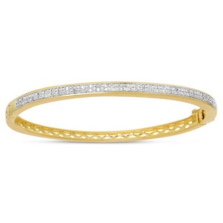 Finesque Overlay 3/4ct TDW Diamond Bangle (I-J, I2-I3)