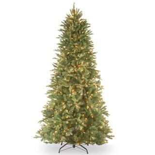 """""""Feel Real"""" Tiffany Fir Lit Slim Tree (6.5')"""