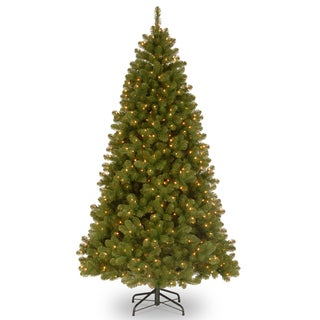 9-foot Down Swept Douglas Fir Tree with Memory Wire and 800 Clear Lights