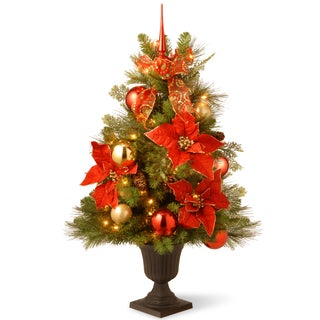 3-foot Decorative Collection Home For the Holidays Entrance Tree with Clear Lights