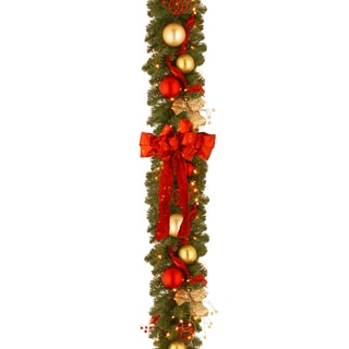 Decorative Collection Cozy Christmas Garland with 100 Clear Lights