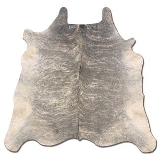 Linon Cowhide Light Brindle and Grey Full Skin Rug (5' x 8')