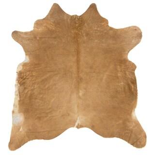 Cowhide Light Brown Full Skin Rug (5' x 8')