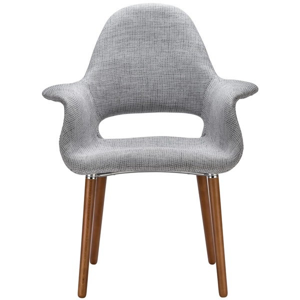 The Barclay Light Grey Organic Style Dining Arm Chair