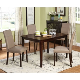 Simple Living Riverplace Espresso Brown and Leatherette-wrapped 5-piece Dining Set
