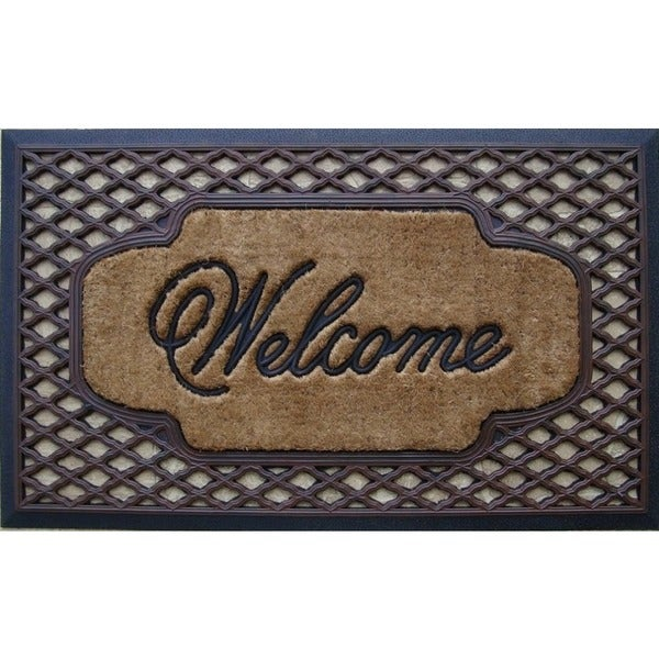 Rubber/ Coir Brush Welcome Doormat