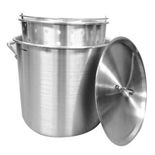 60-quart Aluminum Stock Pot and Strainer Set