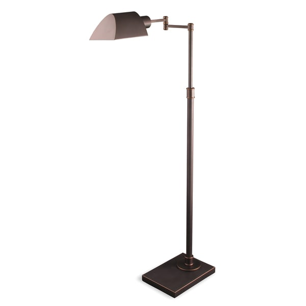 Mr. Lamp and Shade #QF-6945 36 to 46-inch Mission Bronze Metal Pharmacy Floor Lamp