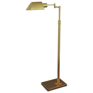 Mr. Lamp and Shade #QF-6947 36 to 46-inch Antique Brass Metal Floor Lamp