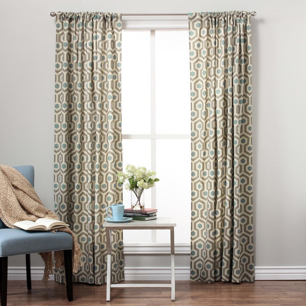 Geo Cotton Print Rod Pocket Curtain Panel