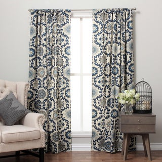 Suzani Cotton Print Rod Pocket Curtain Panel