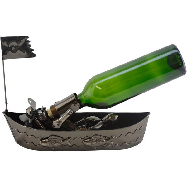 Pirate on a Boat Wine Bottle Holder
