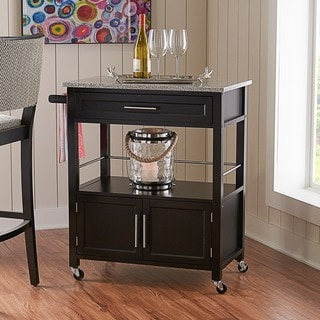 Linon Cameron Granite-top Kitchen Cart