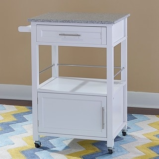 Linon Mitchell Granite-top Kitchen Cart