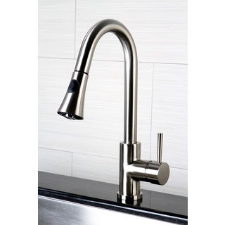 Kitchen Satin Nickel Single Handle Faucet with Pull Down Spout