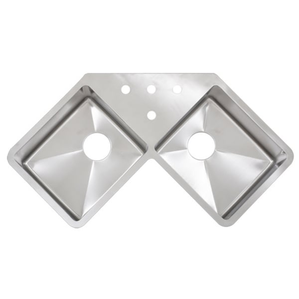 Kitchen Sink Corner : ... TR1400BG 45-inch 16-gauge Double Bowl Corner Butterfly Kitchen Sink