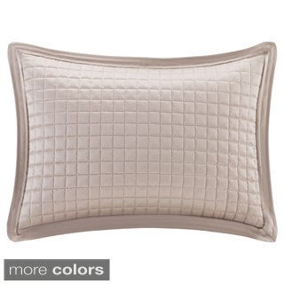 Madison Park Quilted Charmeuse Feather Down Filled Oblong Pillow