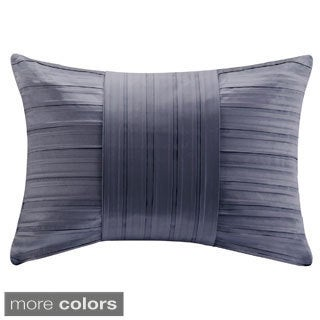 Madison Park Pleated Charmeuse Feather Down Filled Oblong Pillow