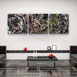 Luba Lowry 'Koi Communion' Canvas Art Print Triptych