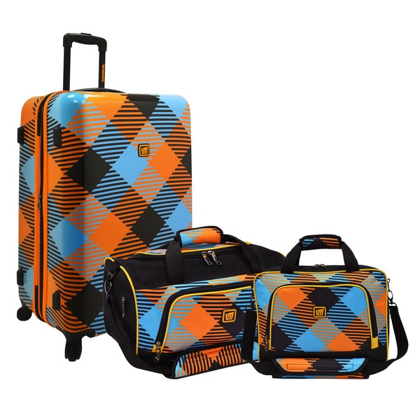 Loudmouth by Traveler's Choice Microwave 3-piece Nested Luggage Set
