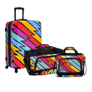 Loudmouth by Traveler's Choice Captain Thunderbolt 3-piece Nested Luggage Set