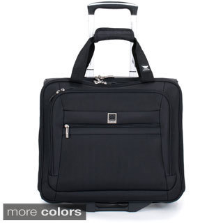 Delsey Helium Hyperlite Black Rolling Carry-on Tote Bag