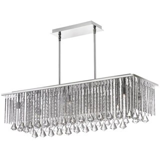 Jacqueline Crystal and Organza 10-light Horizontal Chandelier