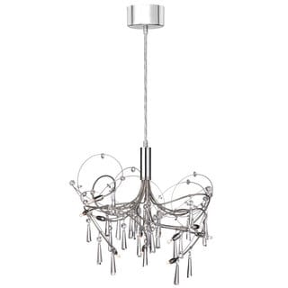 Polished and Satin Chrome 10-light Crystal Chandelier