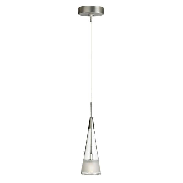 1-light Satin Chrome Low-voltage Pendant