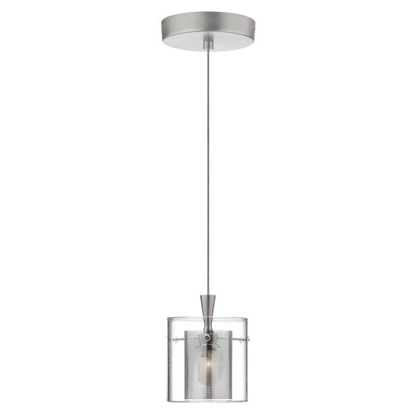 1-light Satin and Polished Chrome Pendant